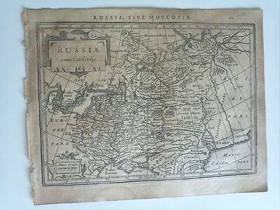 1634 Mercator Hondius: Russia, Russland Russian Federation Moscow Carte Mapa Map