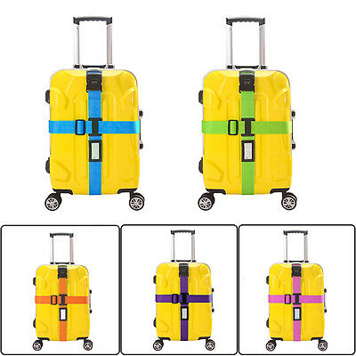 Travel Luggage Suitcase Baggage Bag Packing Secure Cross Strap Belt Metal Clasp