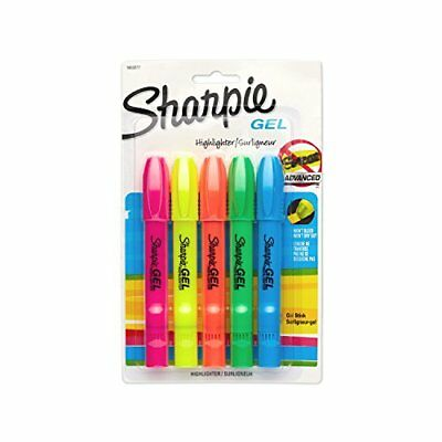 Sharpie 1803277 Accent Gel Highlighter, Assorted Colors, 5-Pack
