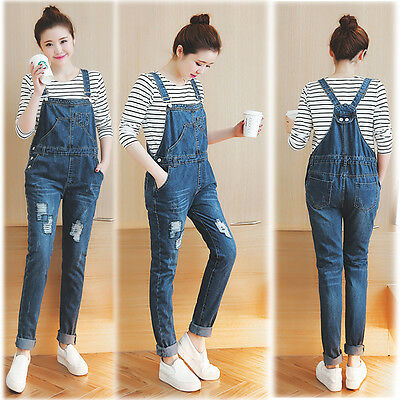 Maternity Dungarees Jumpsuits Jeans Trousers Pants Prenancy 8 10 12 14 16