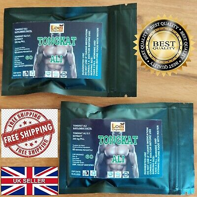 120 Big Pure Tongkat Ali 200:1 Root Extract Longjack Pasak Bumi Super Strength