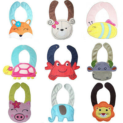 Newborn Toddler Baby Kids Infant Cartoon Bandana Saliva Towel Lunch Feeding Bibs