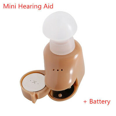 Hearing aids Invisible Sound Amplifier Small In The Ear With Battery Deaf Aid