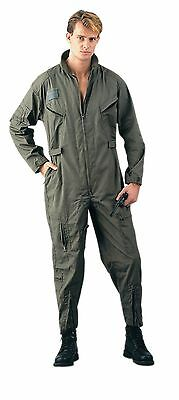 Mens Coverall - Air Force Style Flight Suit, Olive Drab GREEN  by Rothco S TO 5X