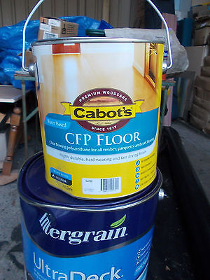 """Cabots """"CFP"""" Timber Cork, Parquetry, finish in """"GLOSS """"4 Litre can   WATER BASED"""