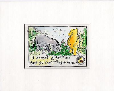 Winnie the Pooh : Scene from 100 Aker Wood : Mounted Print FREE POSTAGE