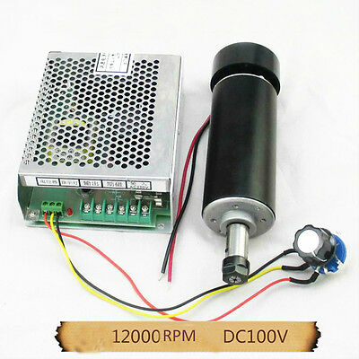 500W Air-Cooled Spindle Motor ER11 100VDC 0.55NM+ Mach3 Power Governor CNC PCB