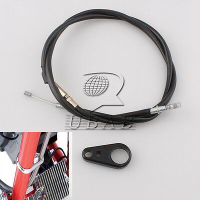 "65"" 165cm Brake Clutch Cable + Frame Clamp kits for Harley Sportster 883 1200"