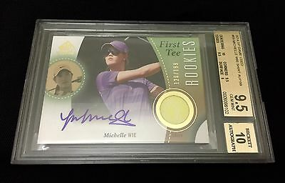 Michelle Wie Bgs 9.5 Rc Auto 10 Sp Game Used Shirt 2014 Gem Mint /199 Autograph