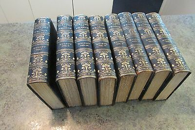 8 Vol Leather Book Set HISTORY OF FRANCE Guizot Edition Deluxe Illustrated