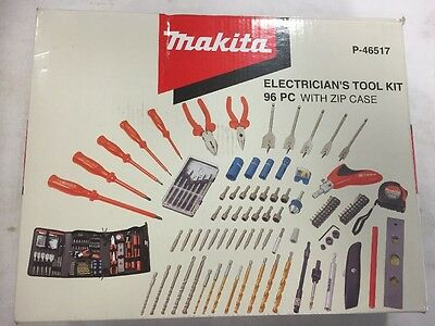 Makita P-46517 96 Piece Electricians Drill Screwdriver Tool Kit Pouch