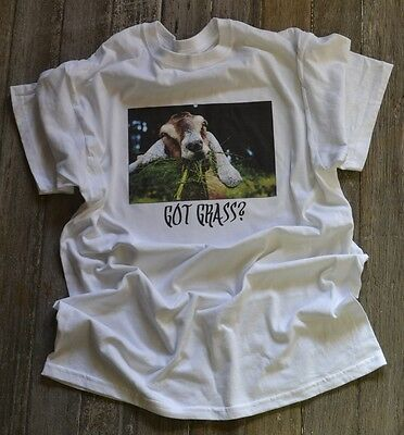 23e076e1d2 Funny GOAT clothing TEE T-SHIRT great gift! Got Grass? Crazy Goat Lady