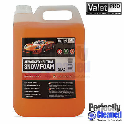 Valetpro Advanced PH Neutral Snow Foam - 5 litres Detailing and Wheel Cleaning!