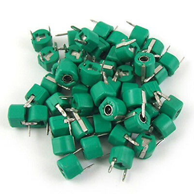 30pF Plastic Green Case Adjustable Trimmer Capacitors 50 Pcs AD
