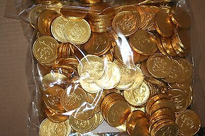 20 - 150 Pirate Coins Large  Milk Chocolate Party Bag Filler - Gold Foil