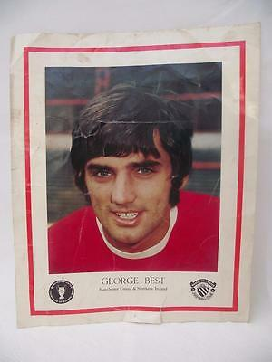 Rare George Best Manchester United Poster 1960's 1970's