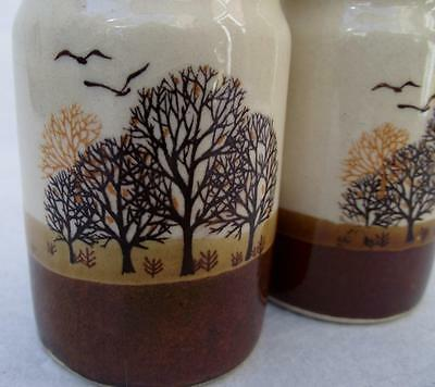 Attractive Vintage Salt and Pepper Set   Trees and Birds