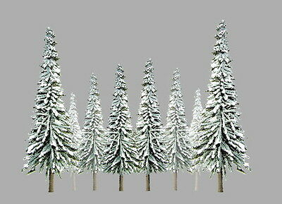 "JTT SCENERY 92005 SUPER SCENIC SNOW PINE TREES 1"" to 2""  Z-SCALE 55/PK  JTT92005"
