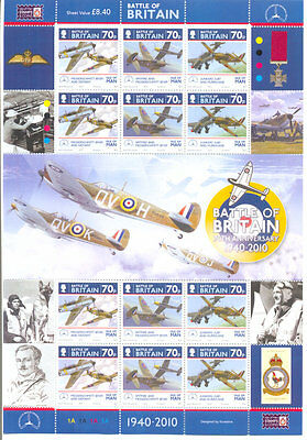 Isle of Man Battle of Britain-special sheets mnh- 2 (2010)