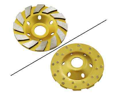 """Heavy Duty 4""""Concrete Turbo Diamond Grinding Cup Wheel12 Segs for Angle Grinder"""