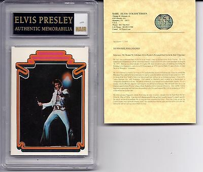 ELVIS PRESLEY Authentic HAIR MEMORABILIA With 1978 Trading Card #37 CERTIFIED!!
