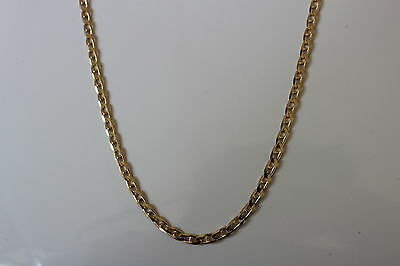 10K Yellow Gold Concave Marine Link Chain  22 inches 11 grams 3.49 mm - NEW