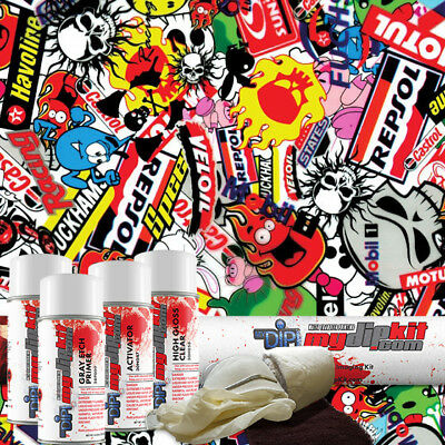 Hydrographic Hydro Kit Dipping Water Transfer Print Hydro Dip Stickers Ll-535