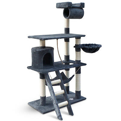 Cat Scratching Post  Tree House Condo 141cm grey Pet Accessories