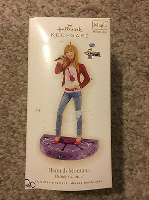Hallmark Keepsake Hannah Montana Disney Channel Christmas Ornament 2009 *broken*