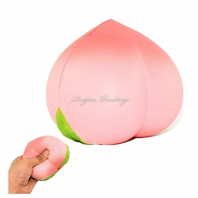 New Colossal 10CM Squishy Pink Peach Slow Rising Cream Scented
