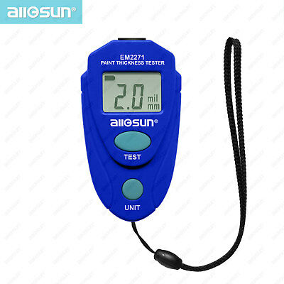 Digital Mini Coating Paint Thickness Tester LCD Paint Gauge Meter 2.0mm/80mil