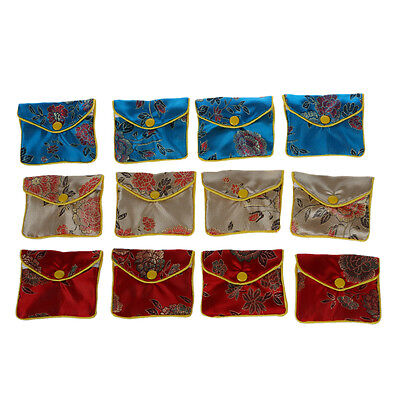 12 x Jewellery Jewelry Silk Purse Pouch Gift Bag Bags HOT AD