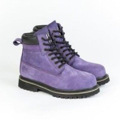 **new** She Can Womens Safety Work Boots (Lace Up) ~Purple Size 11