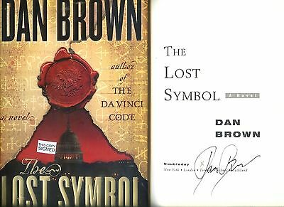DAN BROWN signed 2009 lstED LOST SYMBOL hc BOOK
