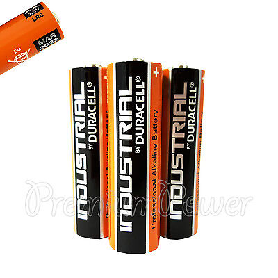 3 x Duracell AA batteries Industrial Procell Alkaline LR6 MN1500 MIGNON EXP:2022