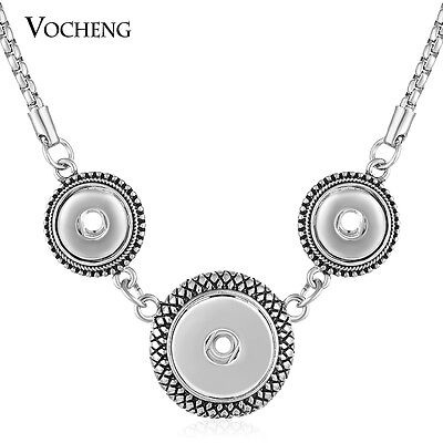 10pcs/lot Vocheng Snap Charms Combo Necklace Fit 18mm and 12mm Button NN-519*10