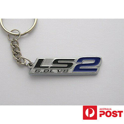 Ls2 6.0 V8 Keychain Keyring Blue Holden Ford Chevy Musclecar
