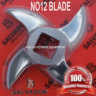 Salvador No 12 Stainless Steel Mincer Knife, Mincer Blade, Curved Edge