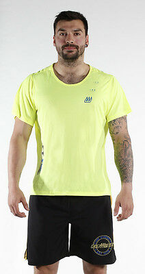 Fitwise Men's Short Sleeve T-Shirts Summer Top Training Gym Casual Wear Yellow