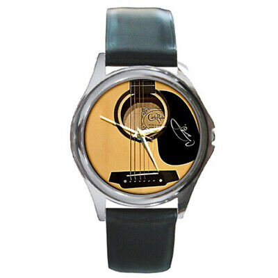 Rosette Guitar Variant Style Round Metal Watch