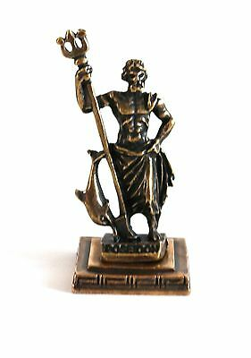 ANCIENT GREEK ZAMAC MINIATURE OF POSEIDON bronze