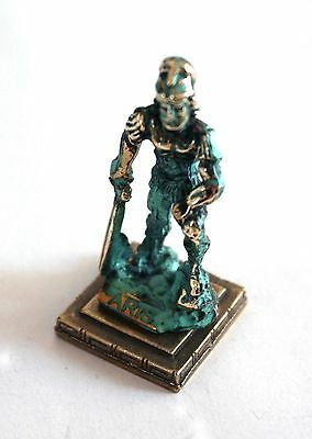ANCIENT GREEK ZAMAC MINIATURE OF ARES (ARIS) gold-green