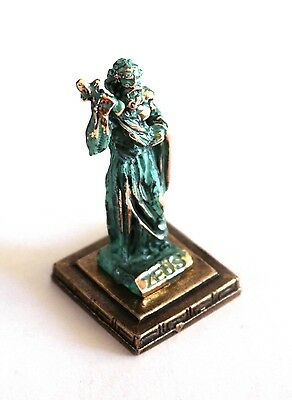 ANCIENT GREEK ZAMAC MINIATURE OF DIAS/ZEUS green-gold