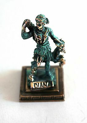 ANCIENT GREEK ZAMAC MINIATURE OF DIANA green gold