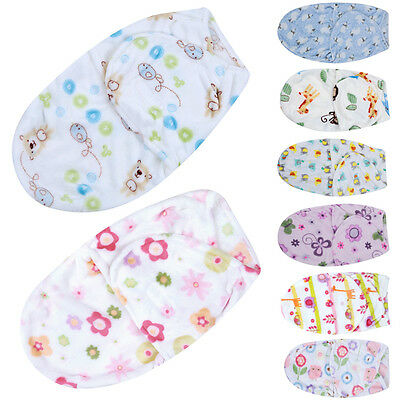 Soft Baby NewBorn Infant Swaddle Wrap Blanket Sleeping Bag For 0-6Months Baby UK