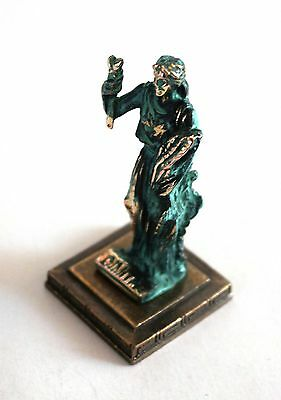 ANCIENT GREEK ZAMAC MINIATURE OF DEMETER (DIMITRA) green gold