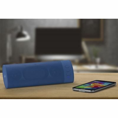 Kitsound Blue Boombar Loud Portable Wireless Bluetooth Chargeable Travel Speaker