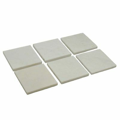 Argon Tableware Luxurious Solid White Marble Drinks Coasters - Set Of 6