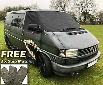 VW T4 Front Window Screen Cover Blackout Blind Curtain Wrap Frost Windscreen Van
