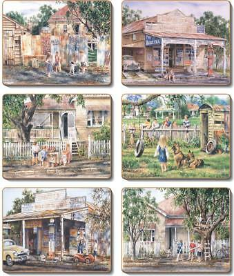 Country Inspired Kitchen NOSTALGIA Cinnamon Cork backed Placemats or Coasters...